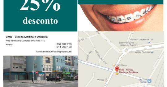 Beneficie de 25% de desconto para Aparelho Dentário